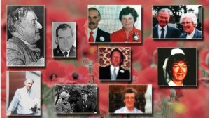 Some of the victims of the Provo's 'Poppy Day bomb'. Innocent civilians who went out to remember the dead of two World Wars